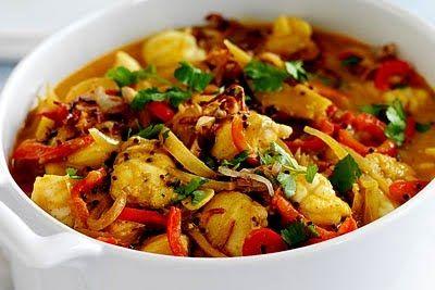 Heerlijke+kruidige,+pittige+curry+van+kabeljauw