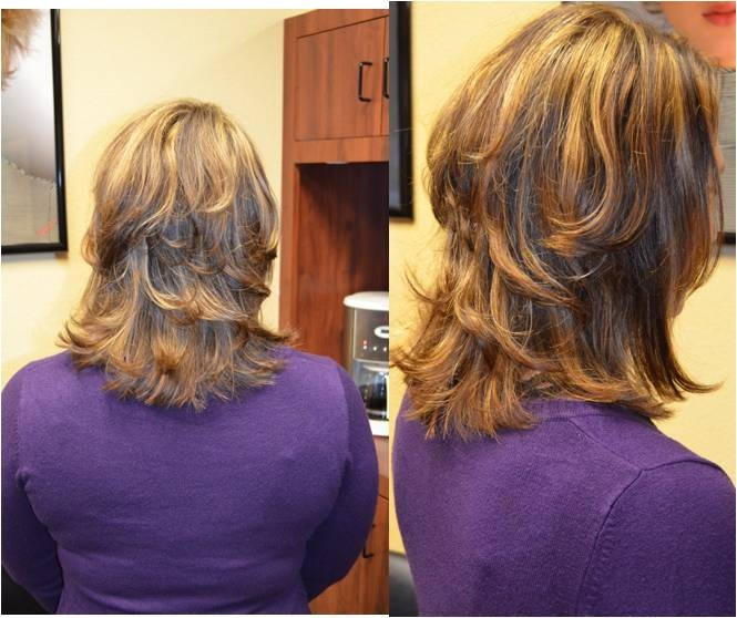 Incredible Medium Layered Haircut With Highlights And Lowlights Lots Of Short Hairstyles For Black Women Fulllsitofus