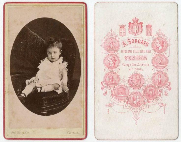 BIMBA CDV 856 Foto F.Gabinetto.Carte da Visite.Albumina.Moda.A.Sorgato.Venezia
