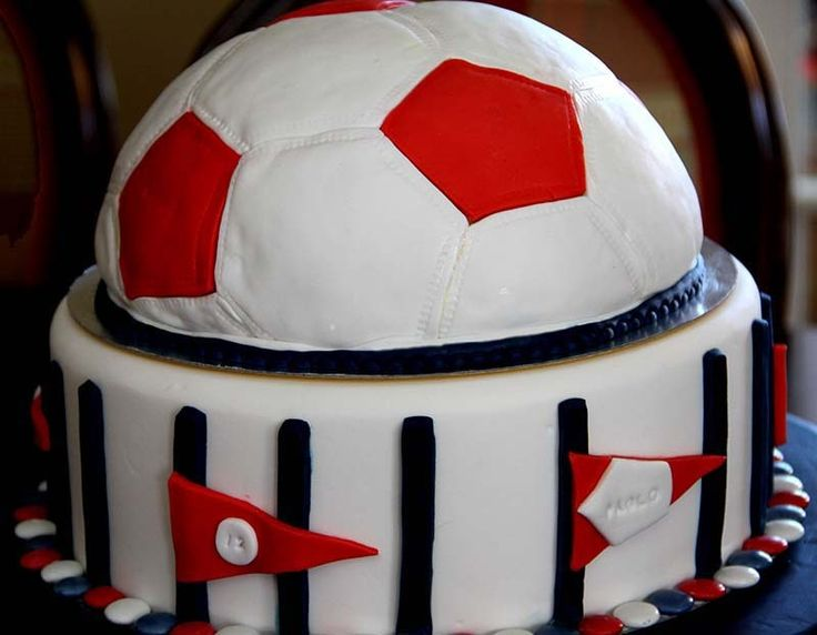 tarta balón fútbol