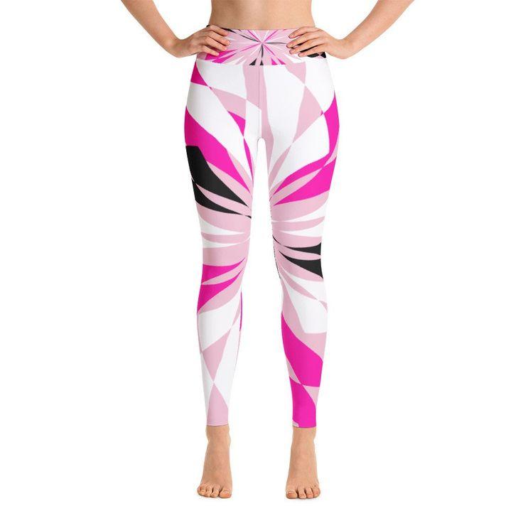 Clara Pink Black White Yoga Leggings