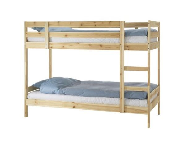 Mydal Bunk Bed Frame Pine Twin Ikea In 2021 Ikea Bed Ikea Bunk Bed Bunk Beds