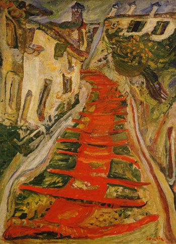 Chaim Soutine Red Stairway at Cagnes c 1923