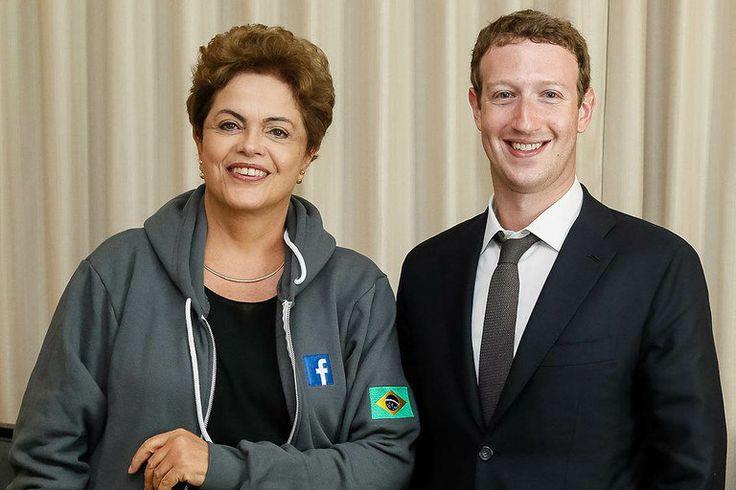 O golpe do facebook. Dilma Rousseff e Mark Zuckerberg