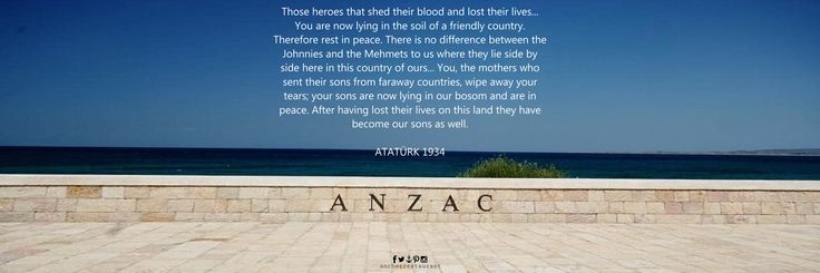 In 1934 ATATÜRK wrote this tribute to the ANZACS killed at Gallipoli. This inscription appears in ANZAC Cove. Gallipoli - TURKEY and also on the Kemal Atatürk Memorial, Anzac Parade, Canberra - AUSTRALIA Photo: ANZAC Commemorative Site, The Gallipoli Peninsula, TURKEY #anzac #anzak #anzacday #anzakgünü #anzac2016 #anzak2016 #gallipoli #gelibolu #gallipolipeninsula #dawnservice #lestweforget #aussie #commemorative #memorial #digger #firstworldwar #atatürk #ataturk #turkey #monument #ww1