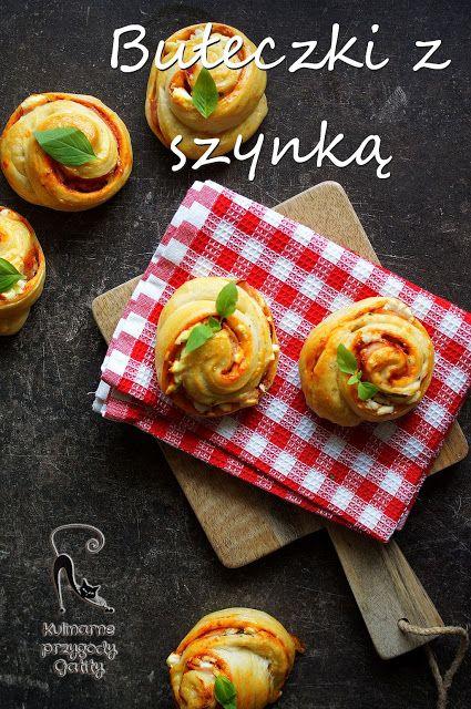 Kulinarne przygody Gatity: Drożdżowe bułeczki z szynką