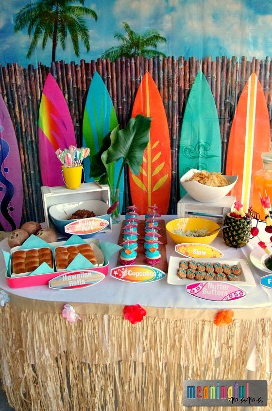 Luau Birthday Party Ideas - Hawaii Party with Decorations and Food