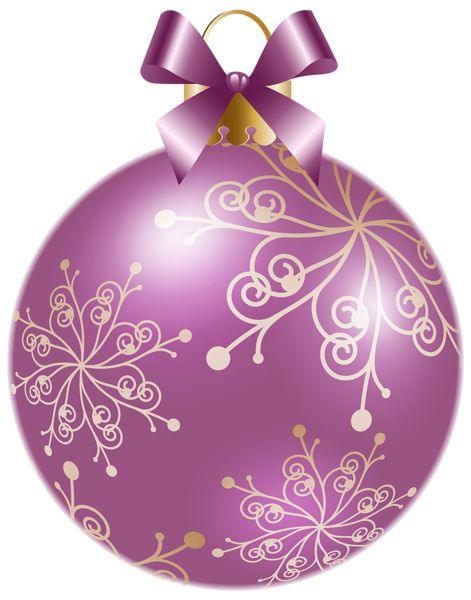 Christmas Soft Violet Ball PNG Clipart Image