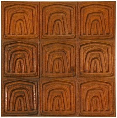 evelyn ackerman carved redwood wall tiles ca 1960s inspiration pinterest madeira. Black Bedroom Furniture Sets. Home Design Ideas