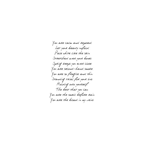 Image of brand new lyrics - Photobucket - Video and Image Hosting found on Polyvore