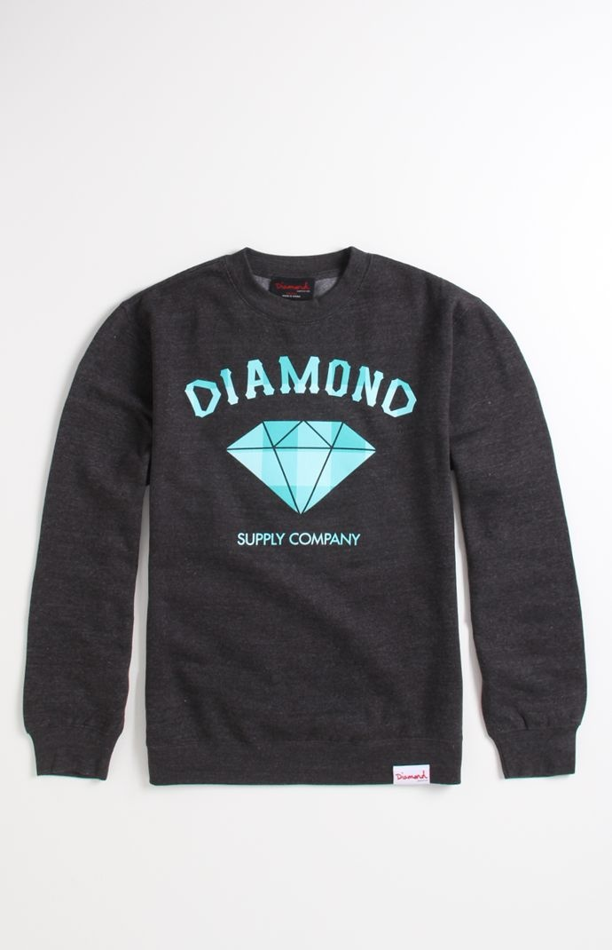 Mens Hoodie/ Classic Plaid Crew Fleece by Diamond Supply Co