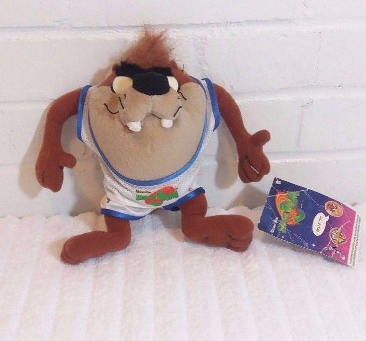 "Looney Tunes Happy Meal Toy 1996 Space Jams Taz Stuffed Animal Plush 7""     (A5) #WarnerBros"