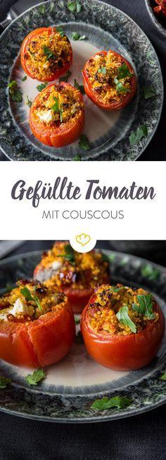 Deine Tomaten sind zum Füllen da! Und zwar mit Couscous, Chorizo und Feta. Und das Schöne - die Füllung kannst du dir nach Lust und Laune zusammenstellen.