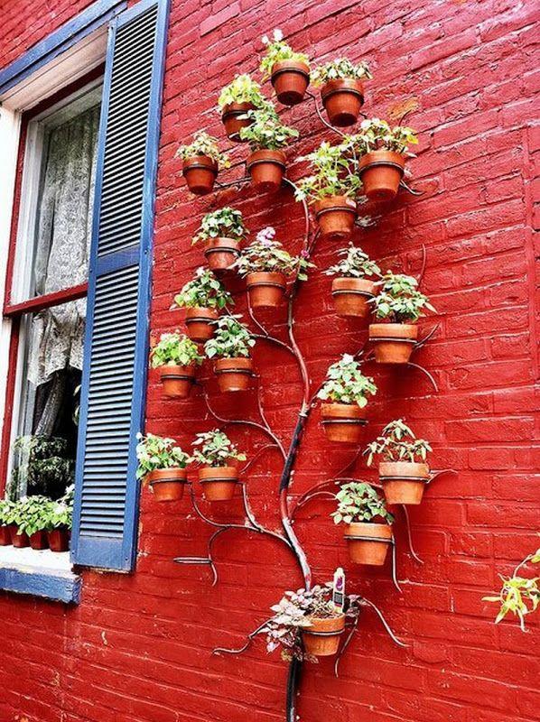 Pretty cool idea : tree wall planter. Love this