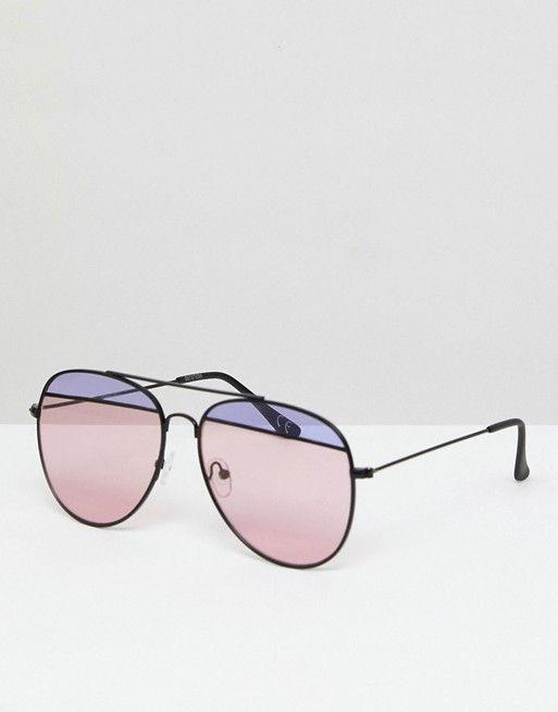 7d343059747 Gafas de sol modernas estilo aviador con lentes con abertura de in 2019