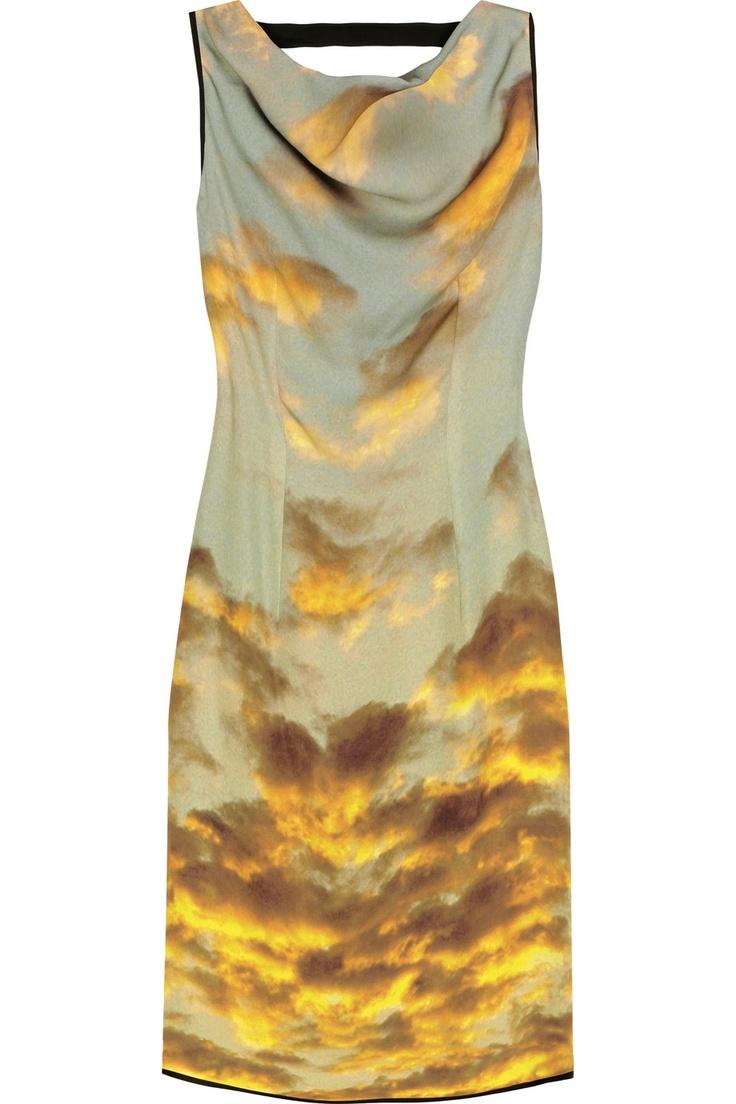 christopher kane cloud print dress: Clouds, Kane Cloudprint, Prints Dresses, Silk Dresses, Sunsets Dresses, Clothing, Cloudprint Silk, Christopher Kane Cloud Prints, Kane Cloud Prints Silk