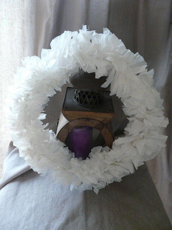 couronne de no l 100 r cup alzheimer wreaths burlap. Black Bedroom Furniture Sets. Home Design Ideas