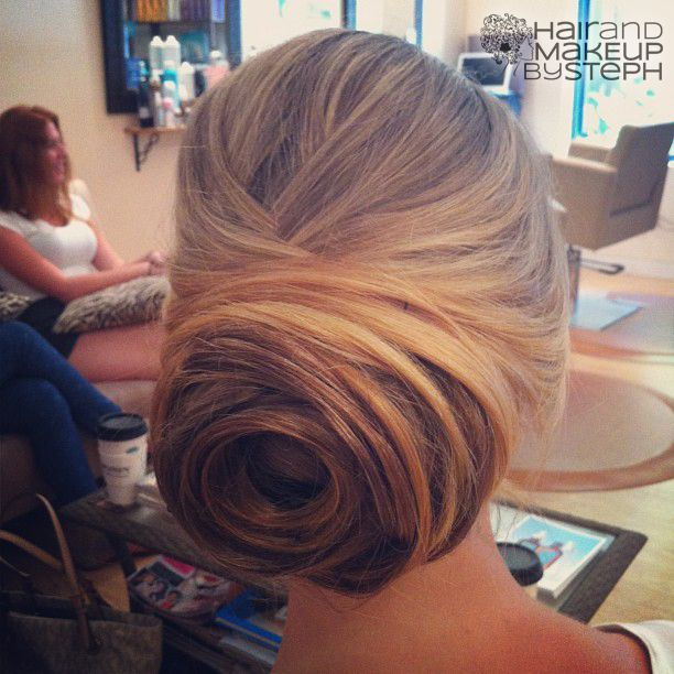 """Gorgeous back of the head beehive-like up-do, via """"Hair and Make-up by Steph"""". I love it so much. Retro and goregous."""