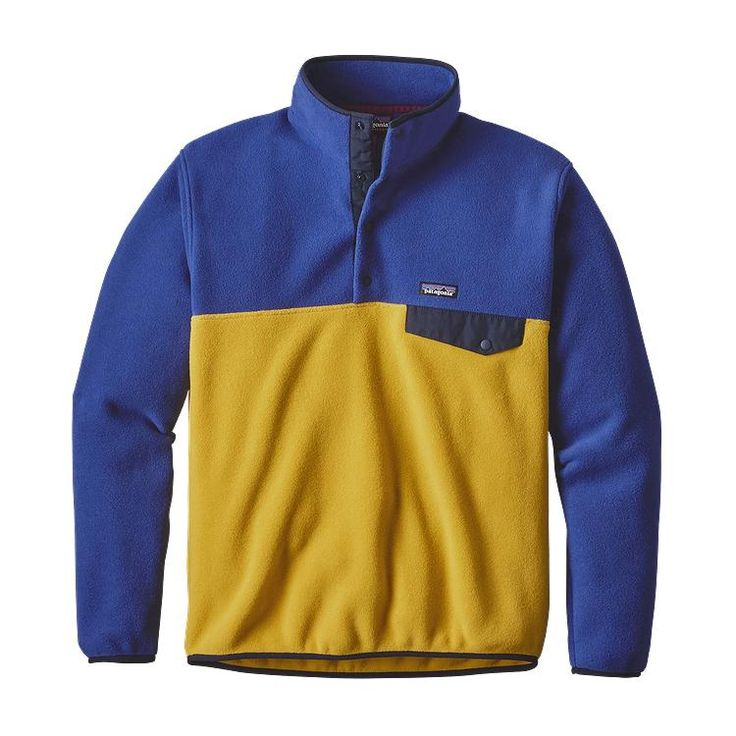 Patagonia Men\'s Lightweight Synchilla\u00AE Snap-T\u00AE Fleece Pullover - Sulphur Yellow SULY