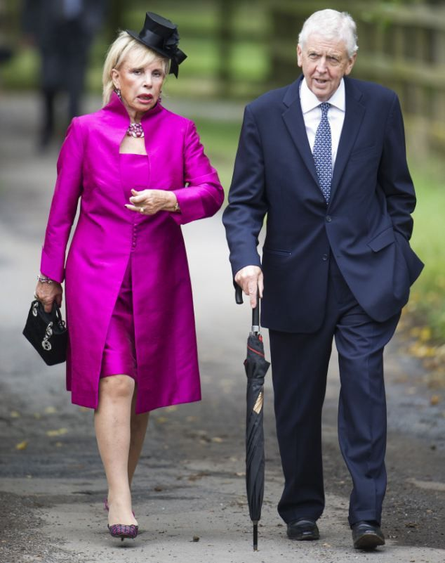 Charles Powell And Lady Carla Arriving At The Wedding Of Euan Blair Suzanne Ash Margaret ThatcherAmis ProchesCendre