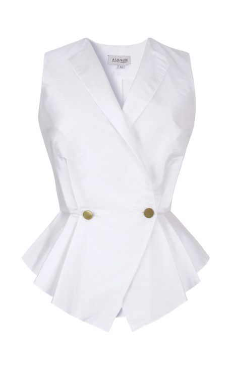 Pleated Graduated Peplum Vest by A La Russe for Preorder on Moda Operandi