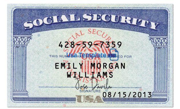 Usa Social Security Card Psd Template Ssn Psd Template Within Blank Social Security Card Template Social Security Card Card Template Id Card Template