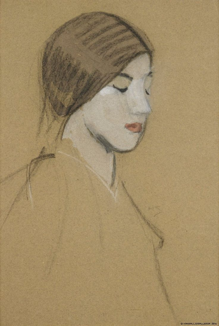 Helene Schjerfbeck - Finnish National Gallery - Art Collections - Head of a Girl 1915