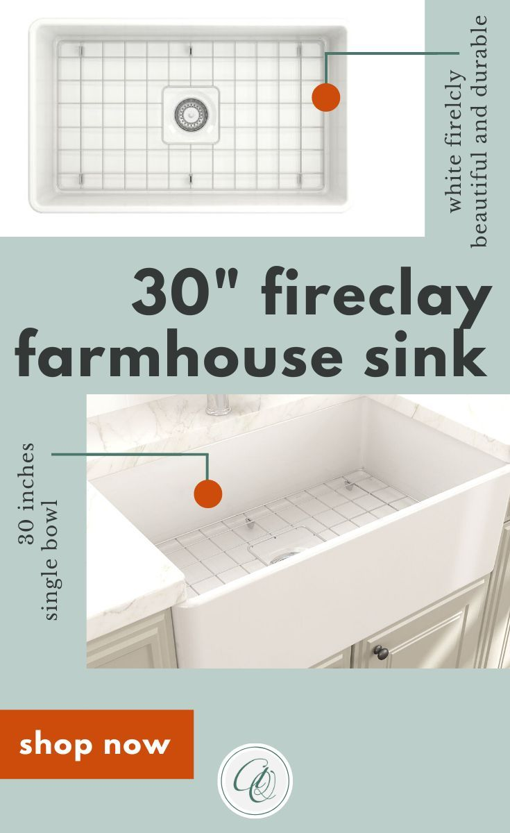 Bocchi Classico 30 White Single Bowl Fireclay Farmhouse Sink With Free Grid In 2020 Fireclay Farmhouse Sink Farmhouse Sink White Kitchen Sink