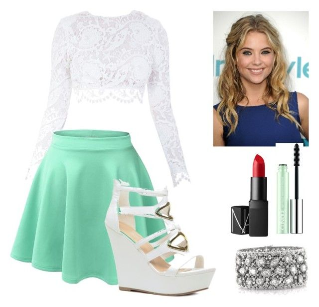 """""""Party 1"""" by makayla-simpson on Polyvore featuring Stone_Cold_Fox, Clinique, NARS Cosmetics and Mark Broumand"""