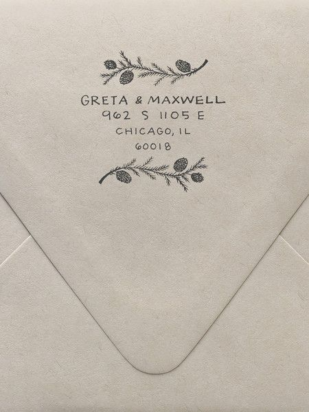 Pine Branches Custom Stamp | Sycamore Street Press