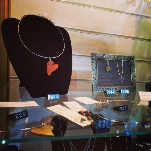 NEW supplier Red Heart Design has a lovely selection of silver, copper and bronze jewellery. Some with handmade polymer clay charms #Huddersfield #handmade