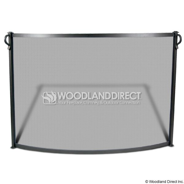 "Pilgrim Bowed Craftsman Fireplace Screen - Vintage Iron 44""Wx31""H 