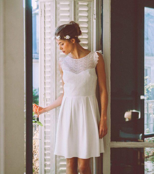 Robe mariage civil - LoraFolk, modèle Berthe, prix sur demande