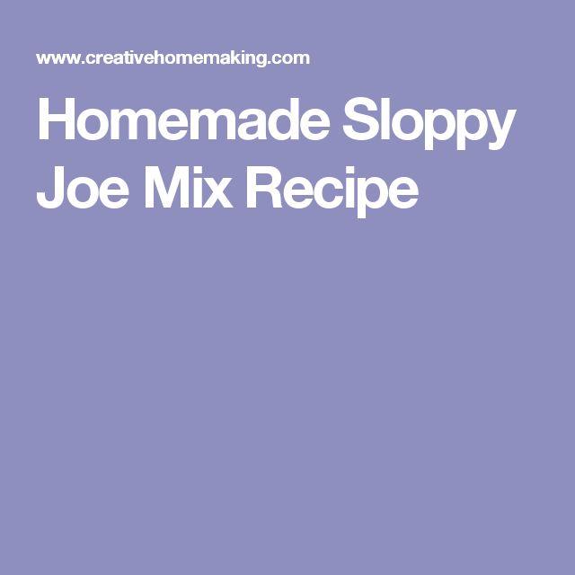 Homemade Sloppy Joe Mix Recipe