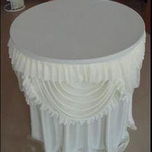 Круглый стол юбка свадебное декоративные шампанское таблицы юбка с двойные гирлянды белый и розовый новое поступление 2015(China (Mainland))