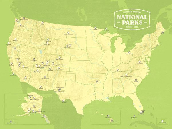 The Best Us National Parks Map Ideas On Pinterest Mount - Wall map of us national parks