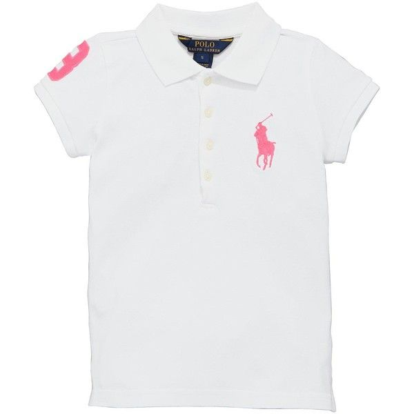 Ralph Lauren Big Pony Polo Polo ($46) ❤ liked on Polyvore featuring tops, ralph lauren tops, ralph lauren and polo tops