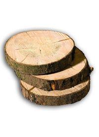 Rondelle de sapin, bois, env. 25-30 cm, 4 cm d'épaisseur, av : dynabox shop