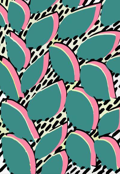 80s leaf pattern - Sarah Bagshaw