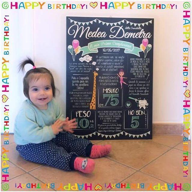 """""""Mi piace"""": 43, commenti: 3 - @lavagnettiamo su Instagram: """"Ciao a tutti, io sono Medea!! Ieri ho compiuto il mio primo anno ed è stato super divertente! La…"""""""