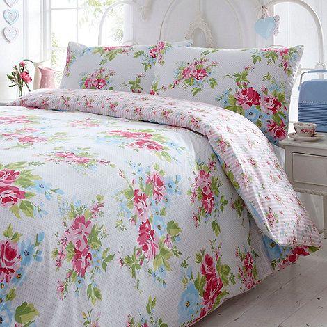 White Ella rose floral bedding set- at Debenhams.com Wedding Gift...