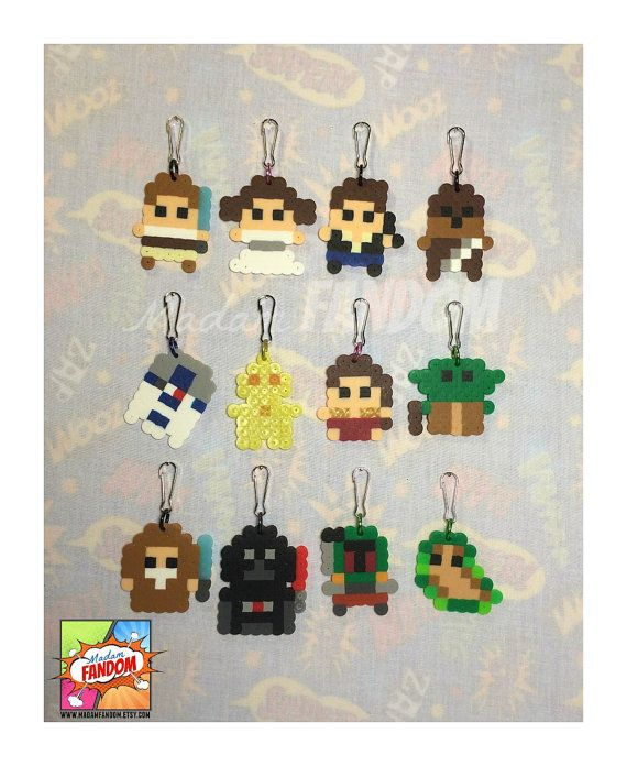 ◄► These Perler Bead designs were created by MadamFANDOM ◄►    Give your party guests the gift of 8bit style Star Wars characters! Favors are