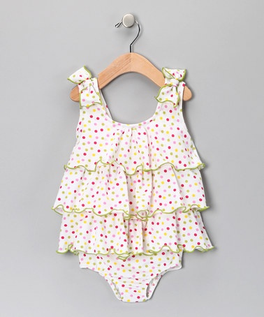 Pink Polka Dot Bubble One-Piece - Infant & Toddler by Fantaisie Kids on #zulily today!