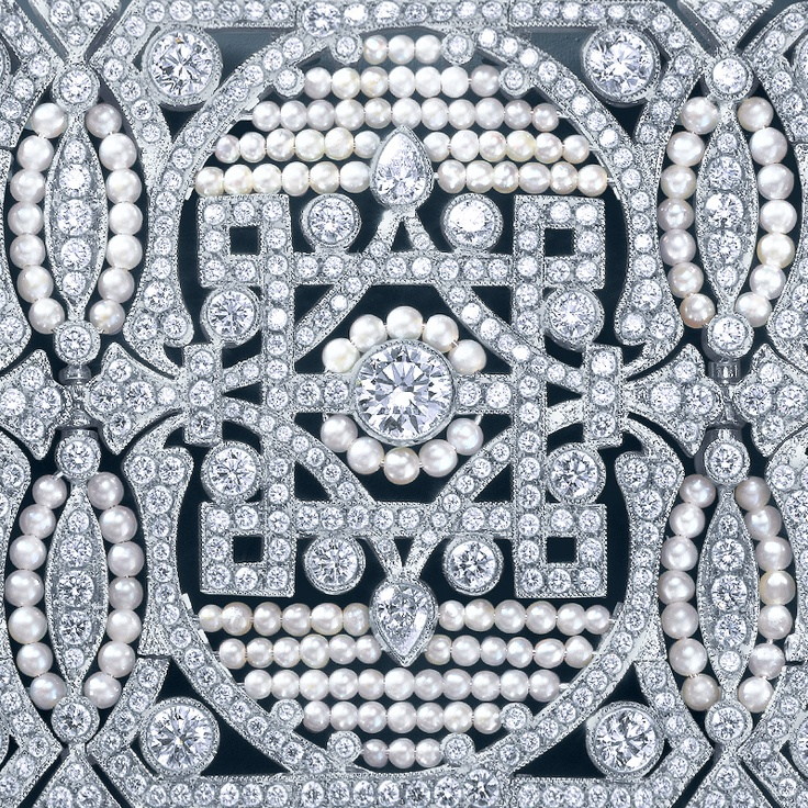 A bracelet of diamonds and seed pearls from The Great Gatsby Collection, inspired by Baz Luhrmann's film in collaboration with Catherine Martin. #LUXURY #INSPIRATION www.Chesterfields1780.com #chesterfields1780 #furniture #interiors #Chesterfields