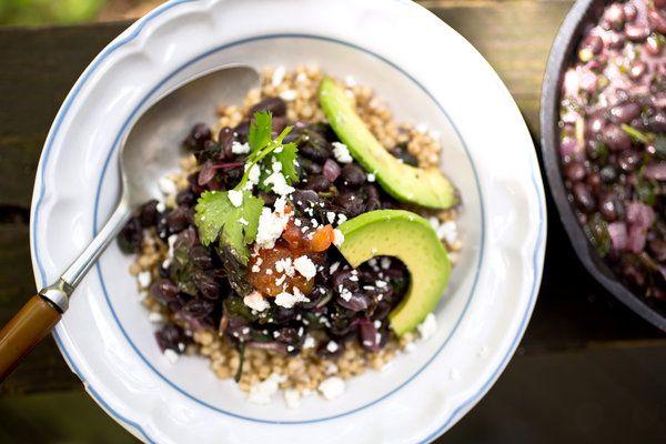 Sorghum Bowl With Black Beans, Amaranth and Avocado — Recipes for Health - NYTimes.com: Black Beans, Food, Recipes, Sorghum Bowl, Avocado Recipe, Gluten Free, Bowls