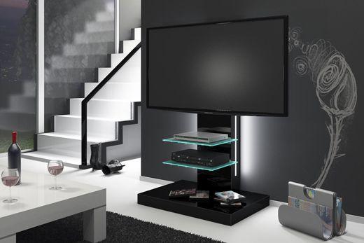 nowoczesny stolik rtv, szafka na telewizor, czarny połysk,