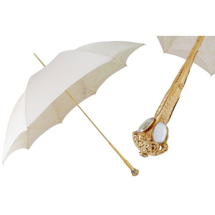 Pasotti Ombrelli Very Elegant Ecru White Luxury Women's Parasol