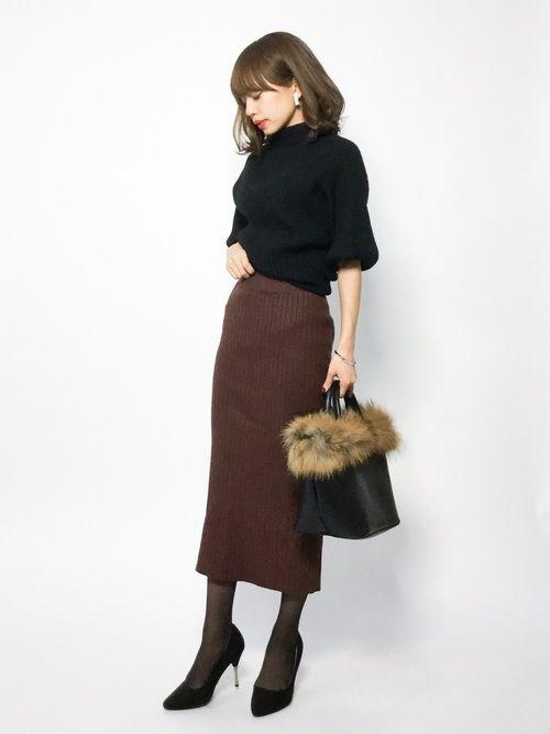 cawaiiのニット・セーター「袖ポワンとオフネックのニットトップス」を使ったeriko(ZOZOTOWN)のコーディネートです。WEARはモデル・俳優・ショップスタッフなどの着こなしをチェックできるファッションコーディネートサイトです。