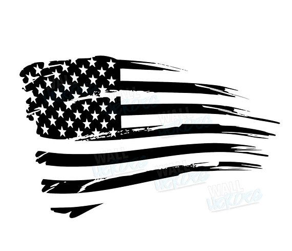 Grunge Flag  Car Decal  Window Decal  USA Decal  2nd