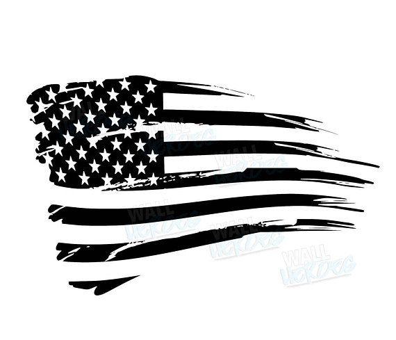 Grunge Flag  Car Decal  Window Decal  USA Decal  2nd